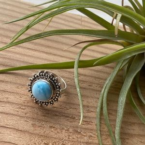Larimar sterling silver ring.
